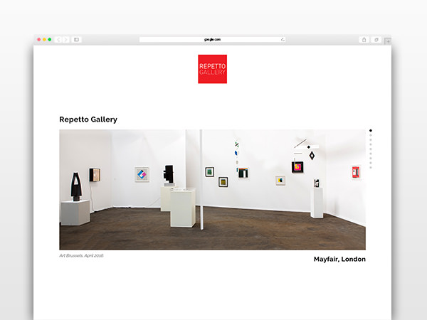 repetto-gallery-website